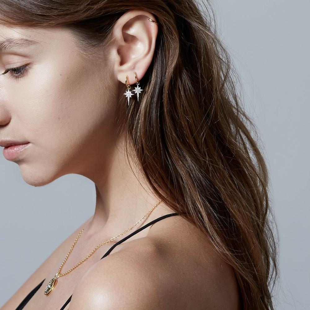 Sophie Lis Fallen Star Hoop Earrings Gold