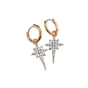 Sophie Lis Fallen Star Hoop Earrings