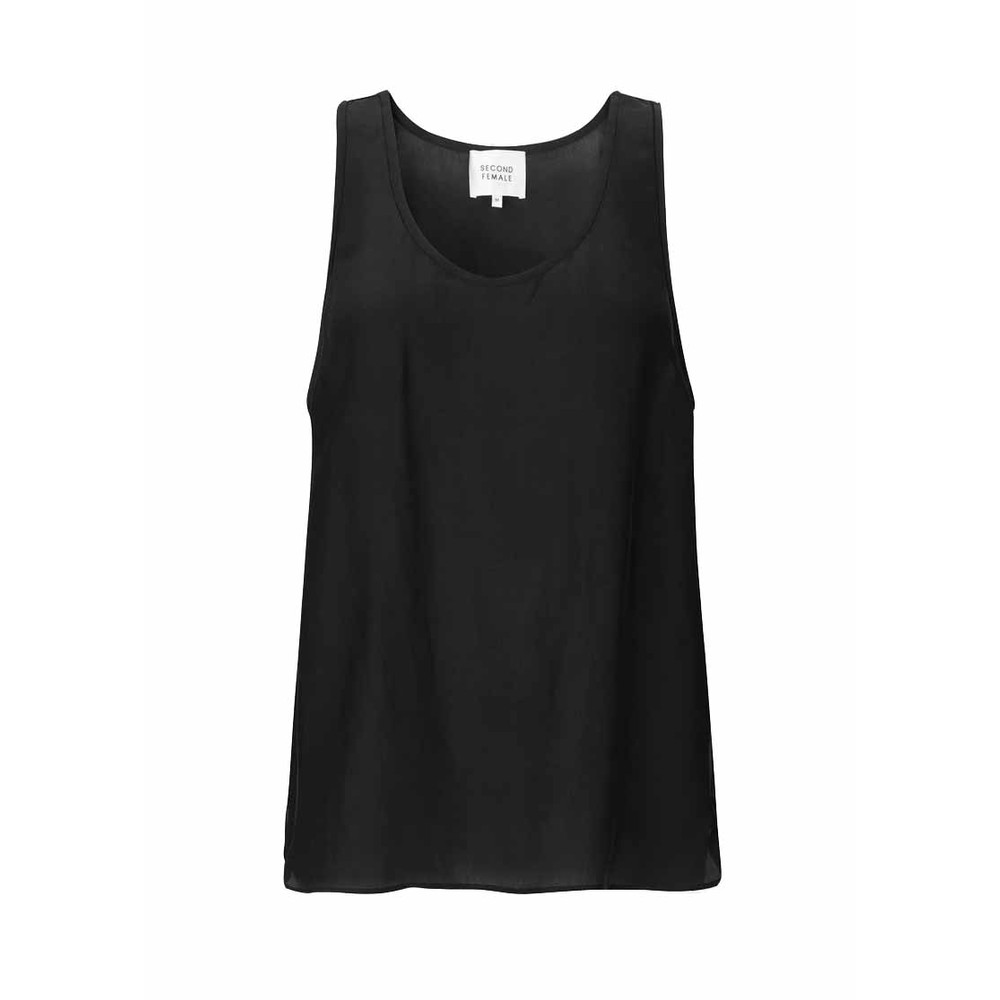 Second Female Melissa Silk Tank Top Black