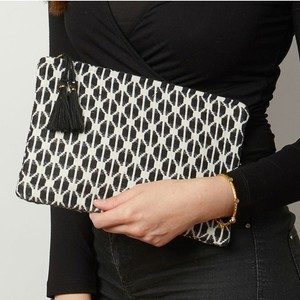 Ashiana Mini Miami Pouch Black & White