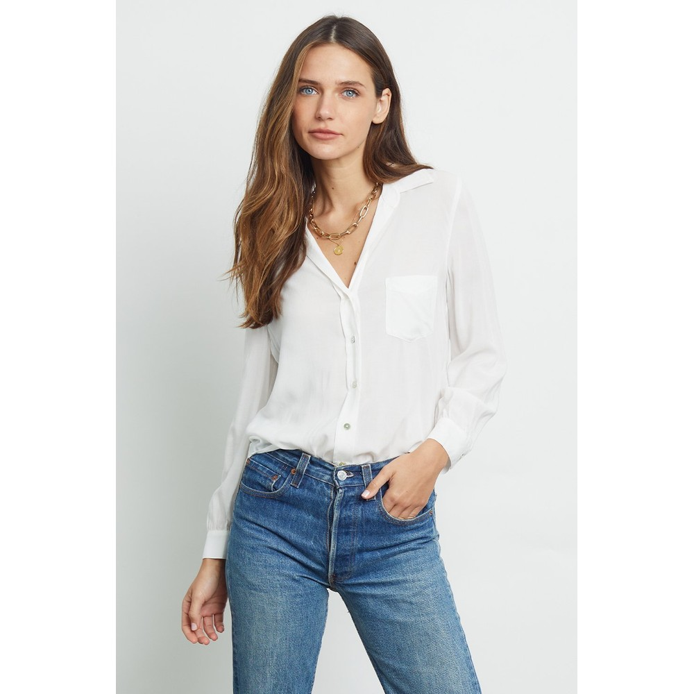 Rails Noemi Blouse In White Ivory Snake White