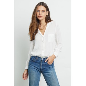 Rails Noemi Blouse In White Ivory Snake