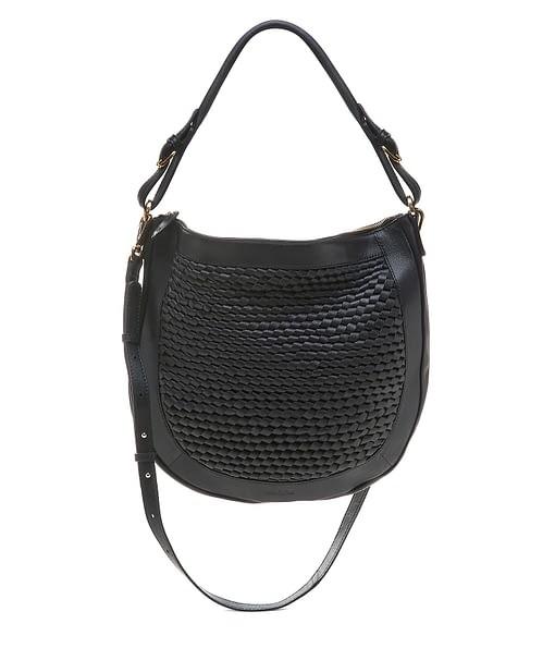 Bell & Fox Cassia Weave Hobo Bag in Black Black