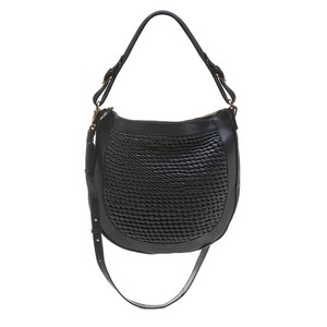 Bell & Fox Cassia Weave Hobo Bag in Black