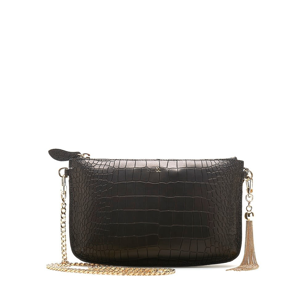 Bell & Fox Ivy Tassel Pouch/ Crossbody Bag Black