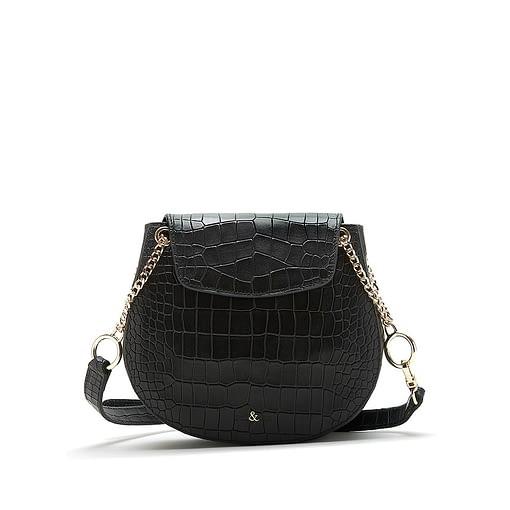 Bell & Fox Iris Chain Saddle Bag in Black Black