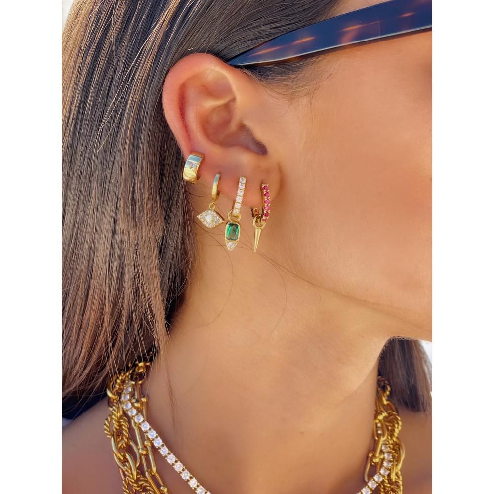 Celeste Starre Ibiza Fuchsia Earrings Pink
