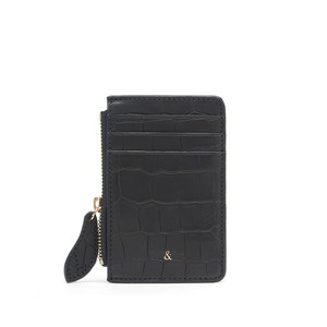 Bell & Fox Lia Credit Card Holder in Black Croc