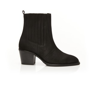 Air & Grace Bardot Ankle Boots in Black