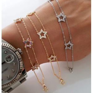 Lily Baker Jewellery Stars Bracelet in Gold