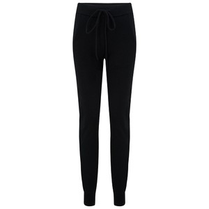 KatieAndJo Cashmere Fitted Joggers in Black