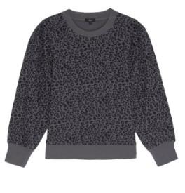 Rails Marcie Cheetah Sweatshirt in Charcoal