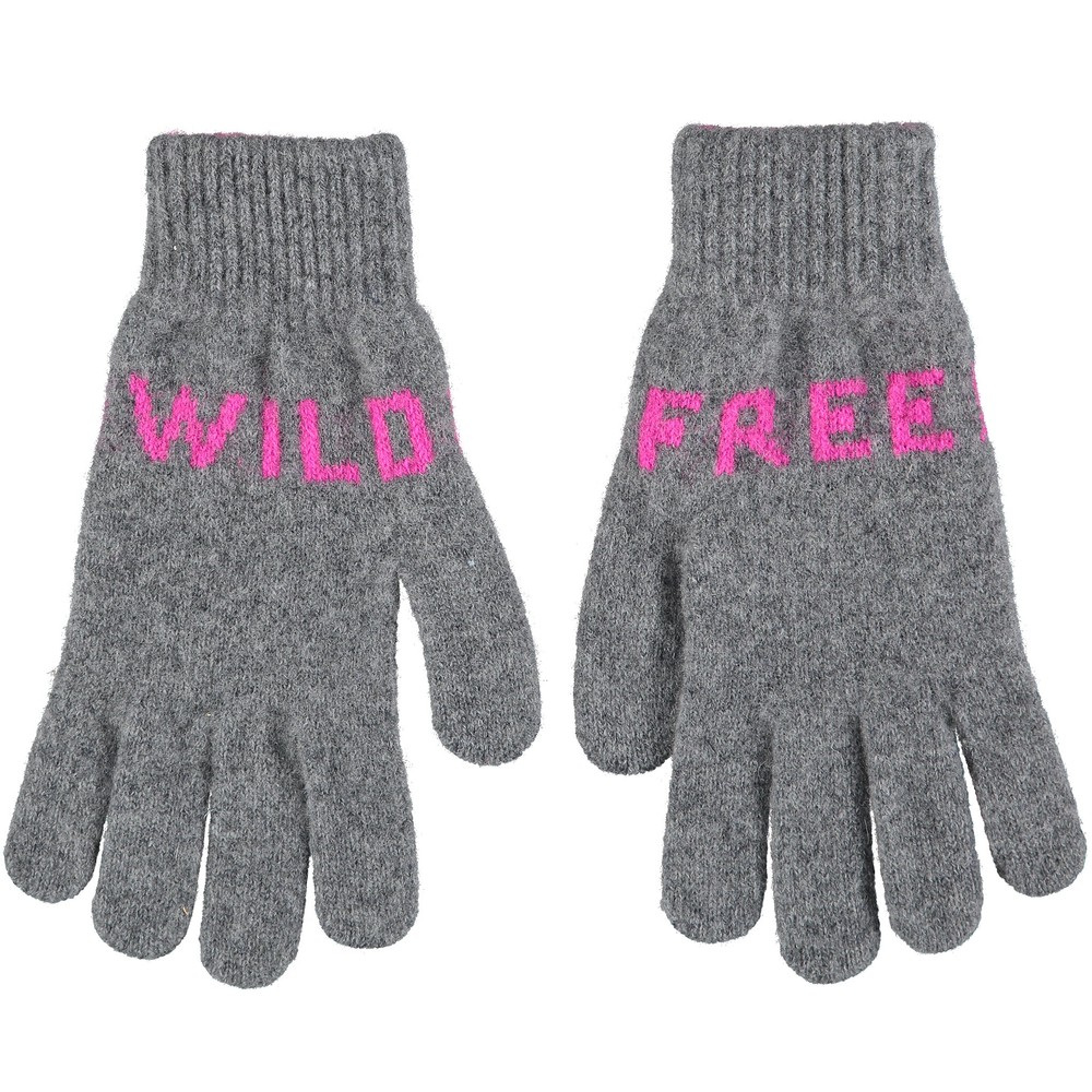 Quinton Chadwick Wild Free Gloves in Grey and Fluro Pink Light Grey