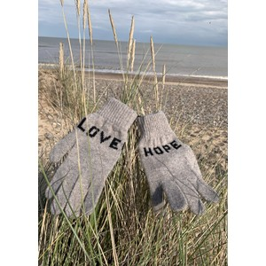 Quinton Chadwick Love Hope Gloves in Grey