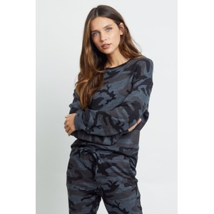 Rails Ramona Sweatshirt in Iron Camo