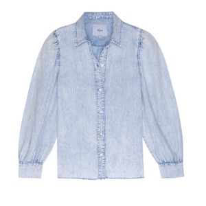 Rails Angelica Puff Sleeve Blouse in Light Denim