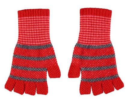 Quinton Chadwick Fingerless Gloves in Scarlet Red Red