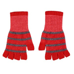 Quinton Chadwick Fingerless Gloves in Scarlet Red
