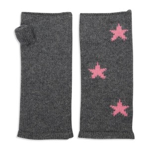 Somerville Scarves Cashmere Star Wrist Warmer in Grey