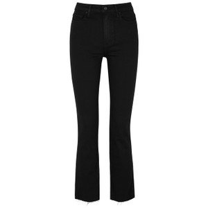 Paige Cindy High Rise Cigarette Jeans in Black Shadow