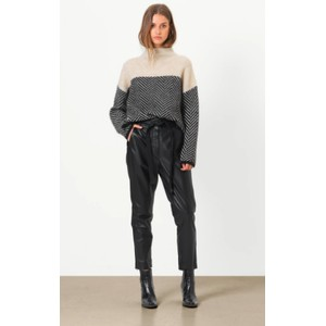Second Female Indie Leather Trousers in Black