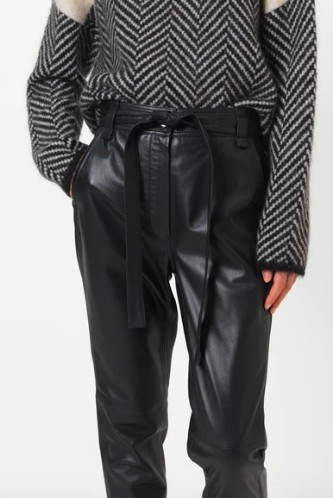 Second Female Indie Leather Trousers in Black Black