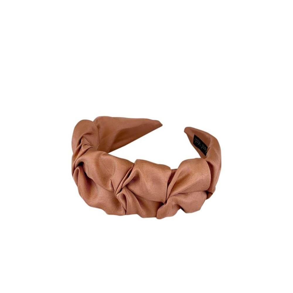 Black Colour  Drape Satin Headband in Rose Pale Pink