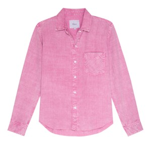 Rails Ingrid Raw Shirt in Pink Acid Wash