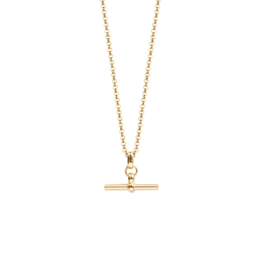 Tilly Sveaas Small Gold T-Bar on 60cm Belcher Chain Gold