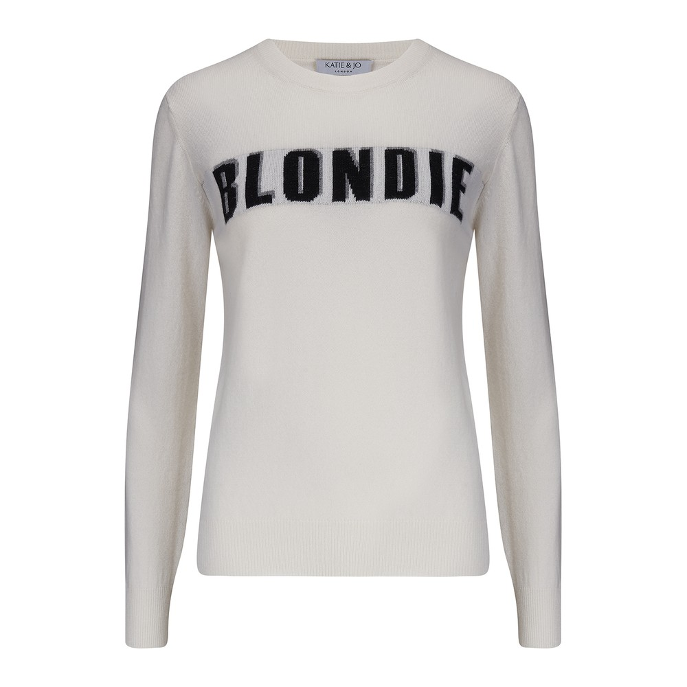 KatieAndJo Blondie Sweater in Ecru White