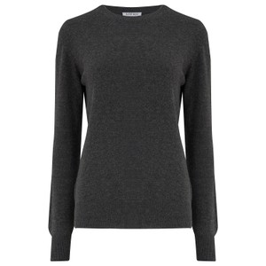 KatieAndJo Round Neck Cashmere Jumper in Thistle in Anthracite