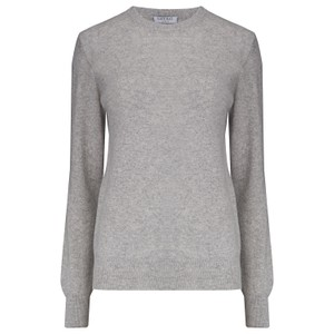 KatieAndJo Round Neck Cashmere Jumper in Thistle in Light Grey