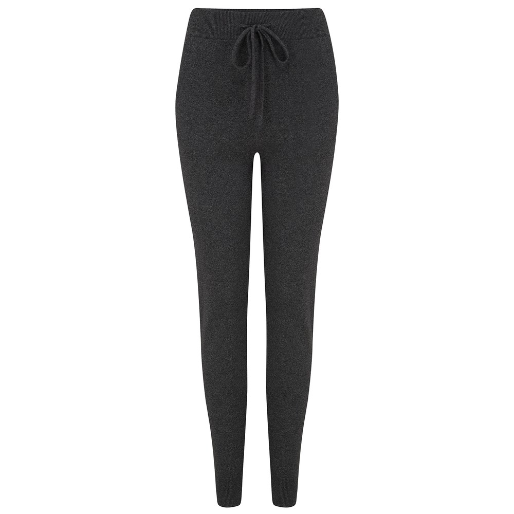 KatieAndJo Cashmere Fitted Joggers in Charcoal Anthracite