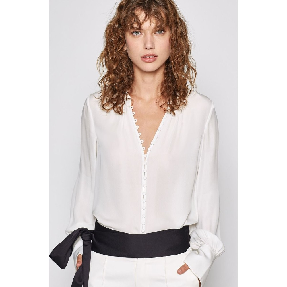 Joie Tariana Blouse in Porcelain White