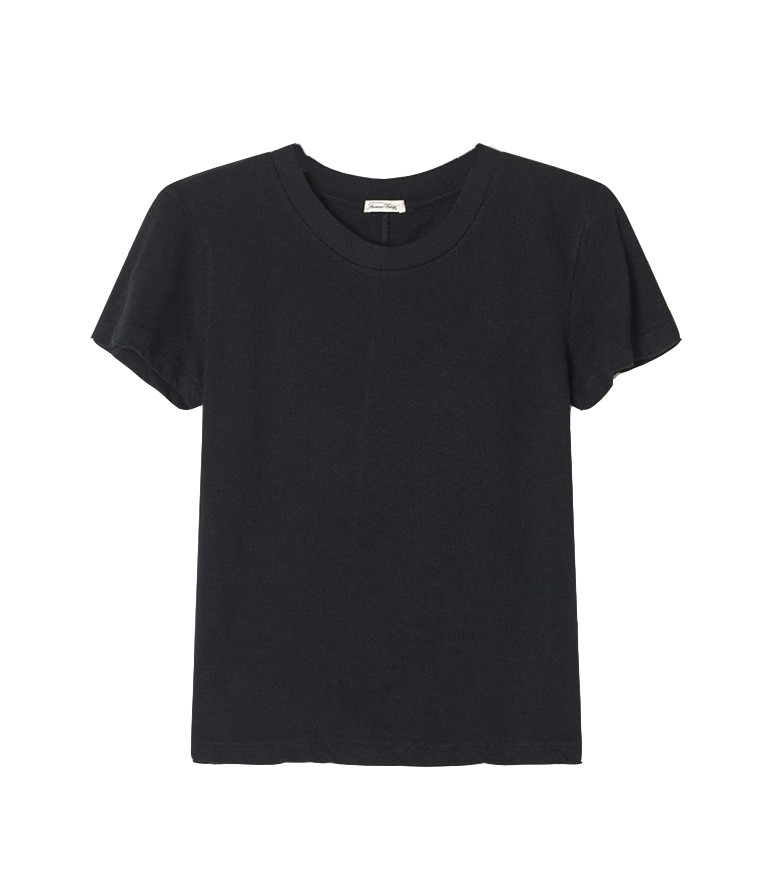 American Vintage Sonoma Short Sleeved T-Shirt in Black Black