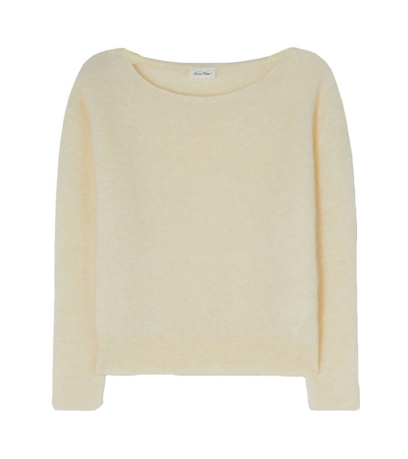 American Vintage Zabidoo Sweater in Lait De Coco Cream
