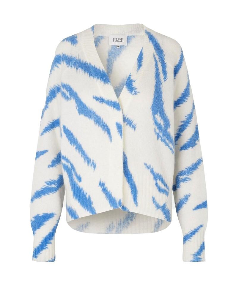 Second Female Rego Knit Cardigan in Blue Bonnet Blue