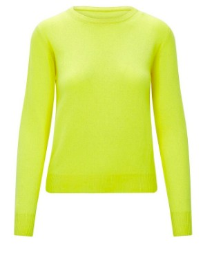 KatieAndJo Round Neck Cashmere Jumper in Citronella Yellow