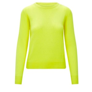 KatieAndJo Round Neck Cashmere Jumper in Thistle in Yellow