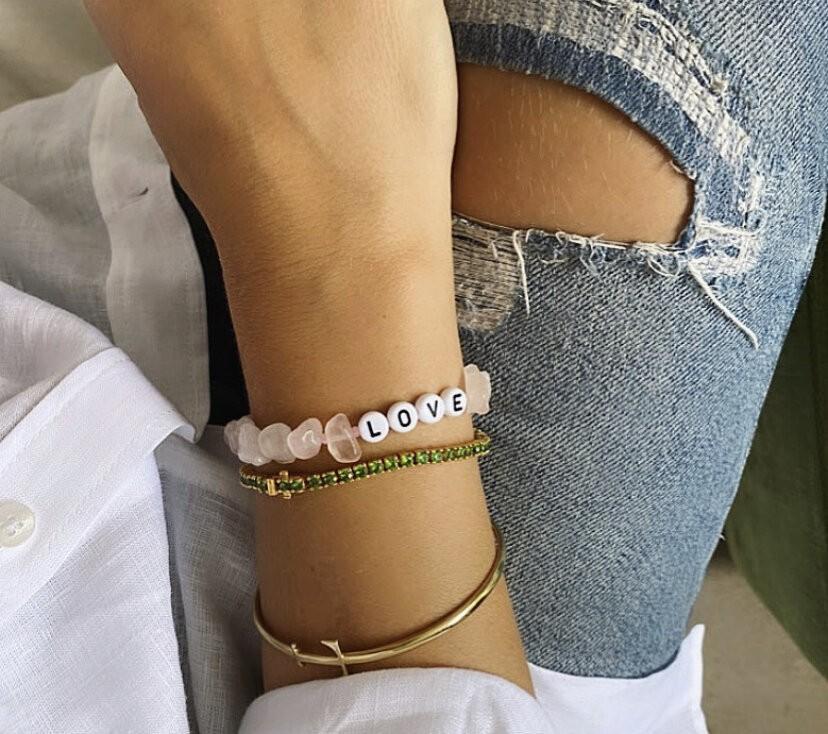 TBalance Love Crystal Healing Bracelet Pink