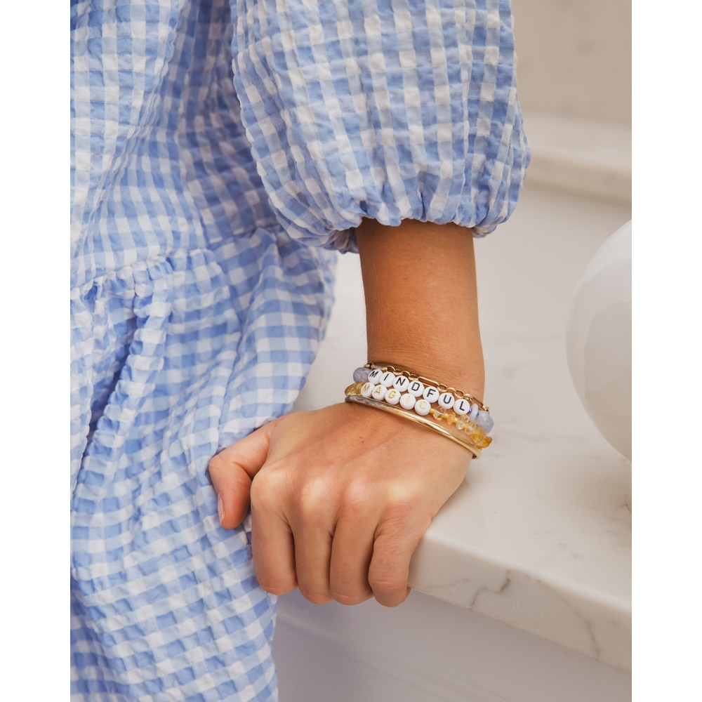 TBalance Mindful Crystal Healing Bracelet Blue