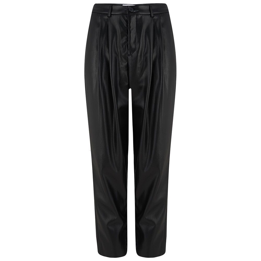 Velvet Simone Leather Trousers in Black Black