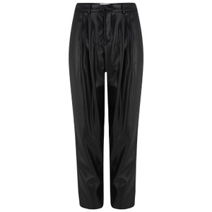 Velvet Simone Leather Trousers in Black