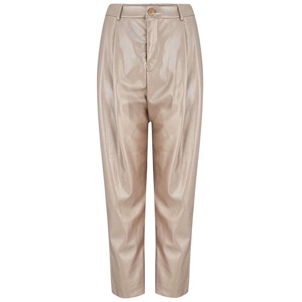 Velvet Simone Leather Trousers in Gold Gold