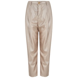 Velvet Simone Leather Trousers in Gold