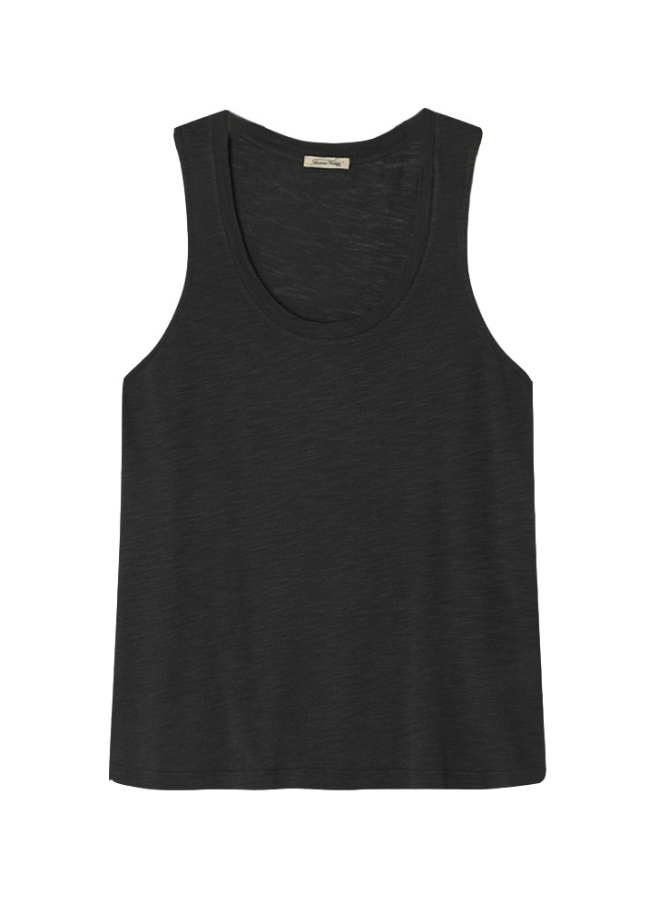 American Vintage Jacksonville Tank Top in Anthracite Anthracite