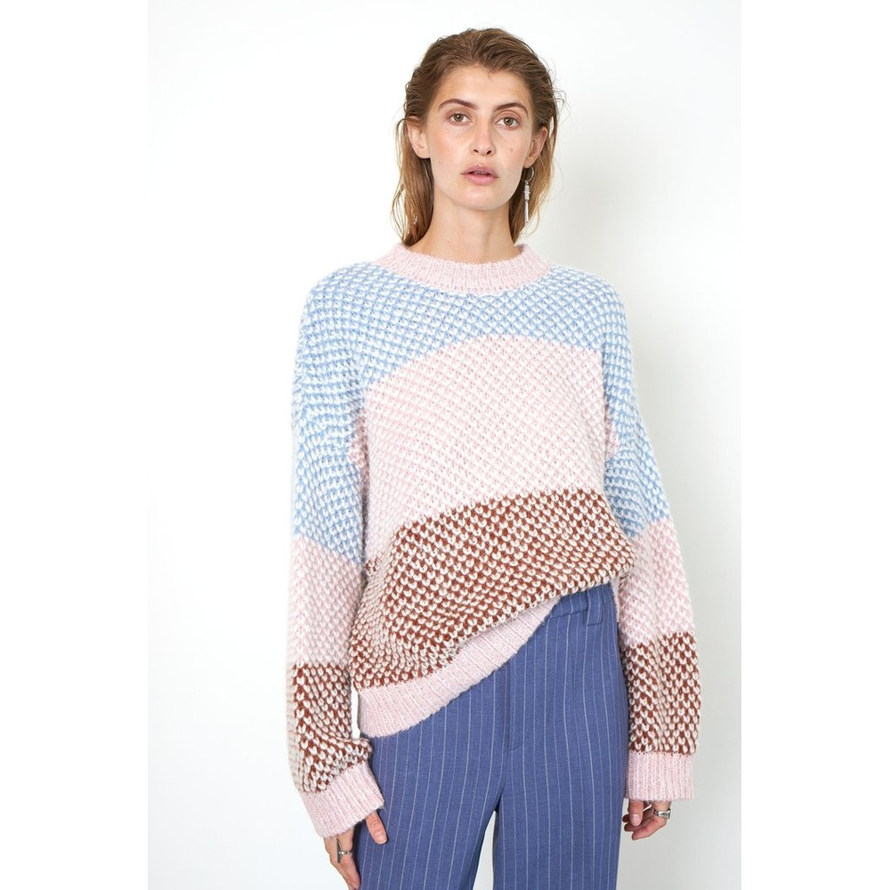 Second Female Berthe Knit O-Neck Pale Pink
