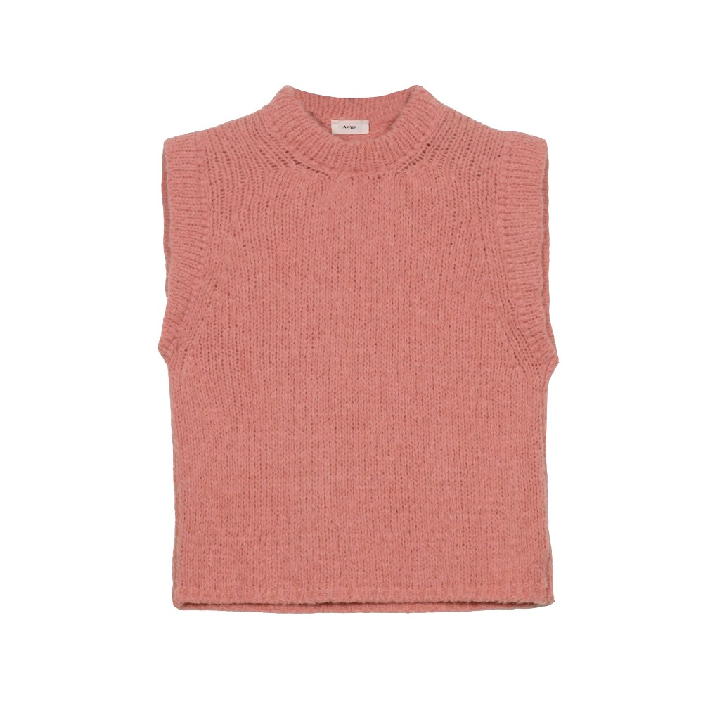 An'ge Lemado Sleeveless Sweater in Powder Pink Pale Pink