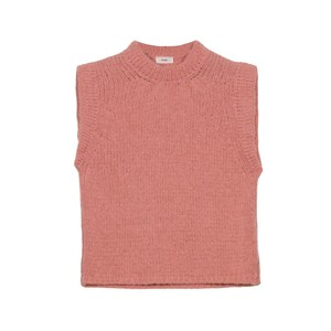 An'ge Lemado Sleeveless Sweater in Powder Pink