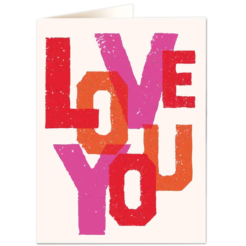 Archivist Love You Colours Card None